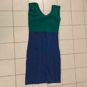 American Apparel Two-tone Bodycon Dress S